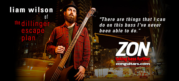 Liam Wilson from Dillinger Escape Plan plays ZON Sonus Custom Basses!